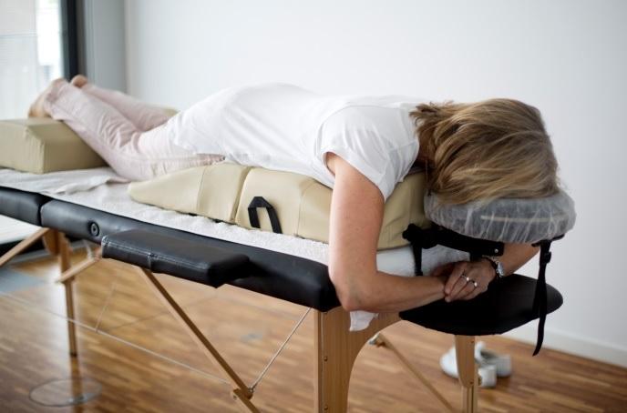 Massagepolsterung für Schwagere